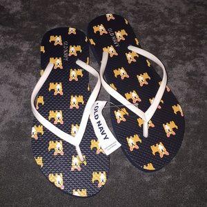 Old navy puppy print  sandals size 7